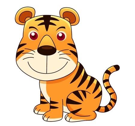sumatran tiger: illustration of tiger cartoon Vector