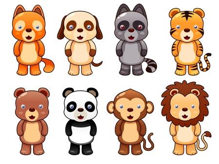 Illustration der cute animal set vector Vektorgrafik