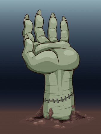 frankenstein: illustration of hand zombie  Vector Illustration