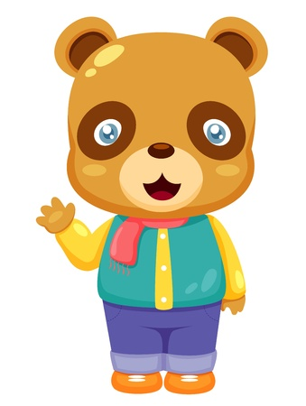 illustration of Cartoon bear Vector Vector