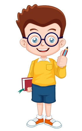 study concept: illustration of Genius Boy vector