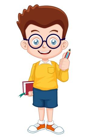 student boy: illustrazione vettoriale di Boy Genius