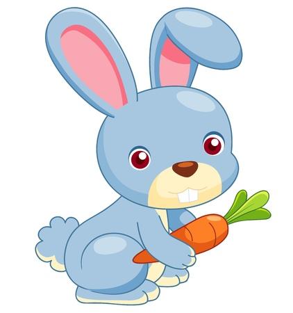 lapin blanc: illustration de vecteur de lapin de dessin anim�