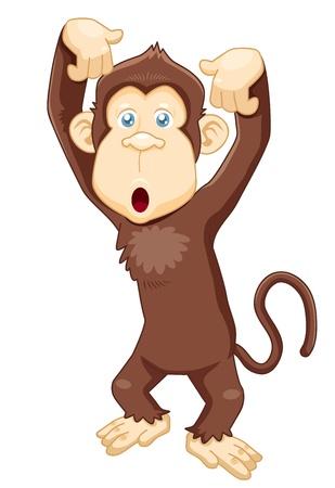 chimpanzee: illustration of Monkey cartoon vector Illustration