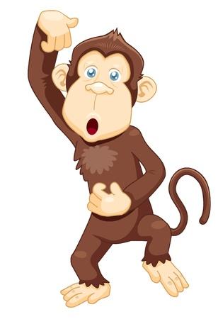 illustrazione di vettore scimmia cartone animato