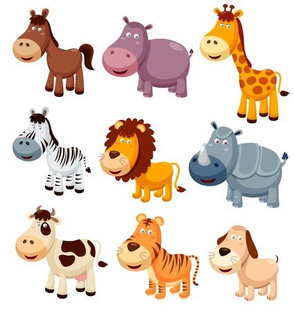 vaca caricatura: ilustraci�n vectorial de dibujos animados Animales