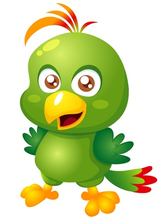 illustration of Cartoon bird Vector Vector