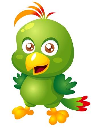 guacamaya caricatura: ilustración del vector de la historieta del pájaro