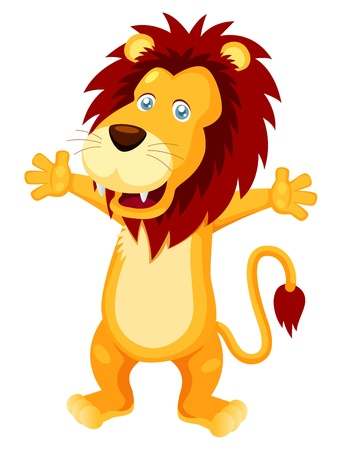 lion vector: illustration of Happy lion cartoon vector