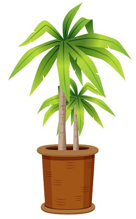 illustration of tree in tree pot.Vector Stock Vector - 15904585