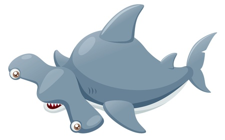 illustration of Hammerhead shark Vector