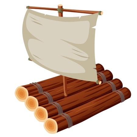 jangada: ilustraci�n de Balsa