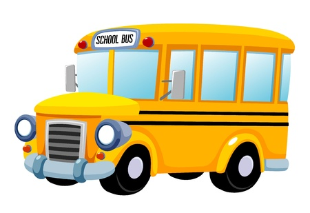 transporte escolar: ilustración del vector del autobús escolar