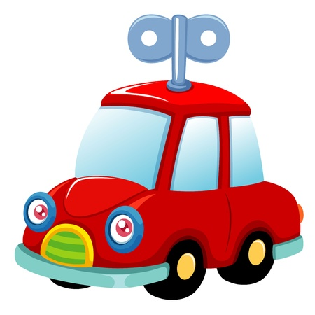 illustration of Toy car Vector Vector