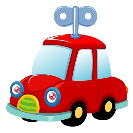 d�part course: Vector illustration de la voiture jouet