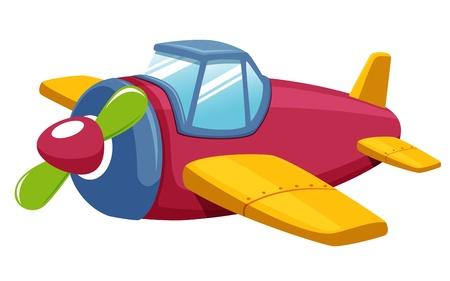avi�n juguete: ilustraci�n vectorial de avi�n de juguete
