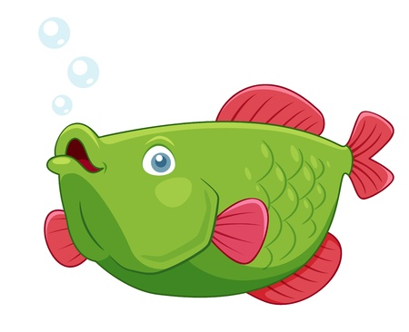 underwater fishes: illustration of fish vector