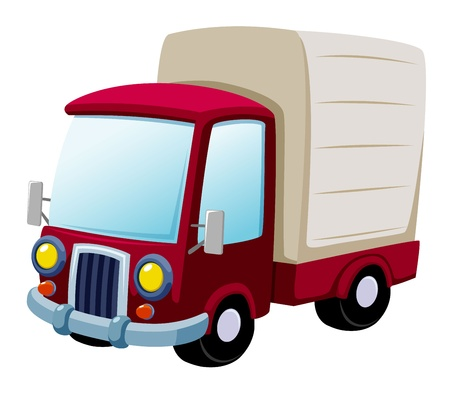 white truck: illustration of cartoon truck Vector