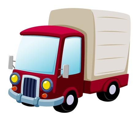 camion caricatura: ilustración vectorial de dibujos animados de camiones