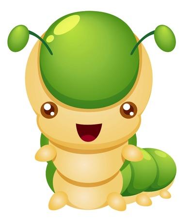 gusanos: ilustración del vector de la historieta del gusano