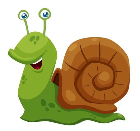 illustration of Cartoon Snail Vector