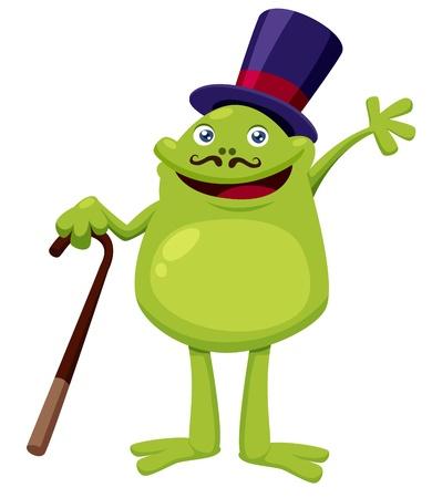 webbed: Illustration of a frog cartoon character