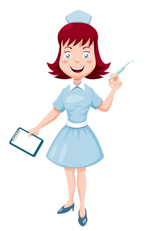 illustration of Cartoon nurse  Vector