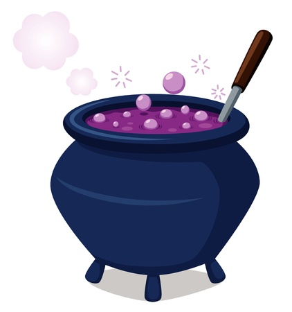 soup pot: illustration of witch s cauldron Vector Illustration