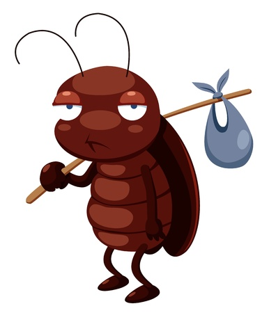 illustration of cockroach cartoon get out Vector