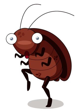 illustratie van kakkerlak cartoon