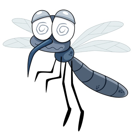infected mosquito: illustration of Cartoon Mosquito
