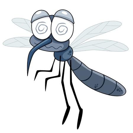 skin infections: ilustraci�n de dibujos animados Mosquito Vectores