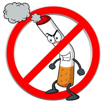 Abbildung No smoking sign cartoon Standard-Bild - 16392811