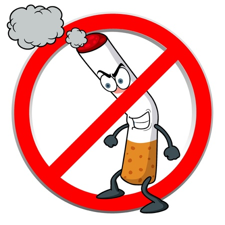 illustration of No smoking sign cartoon Ilustração