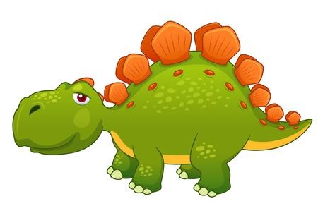 stegosaurus: ilustraci�n del vector de la historieta del dinosaurio