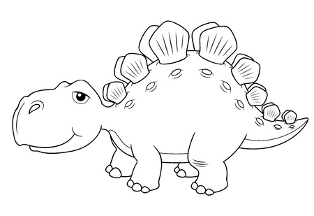 stegosaurus: illustration of Cartoon dinosaur vector Illustration