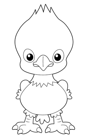 illustration of Cartoon eagle outline Stock Vector - 16392819