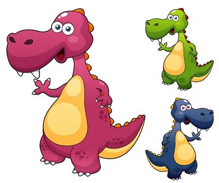 dinosaur: ilustraci�n de dibujos animados dinosaurio