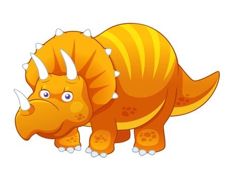 dinosaur cartoon: ilustraci�n del vector de la historieta del dinosaurio