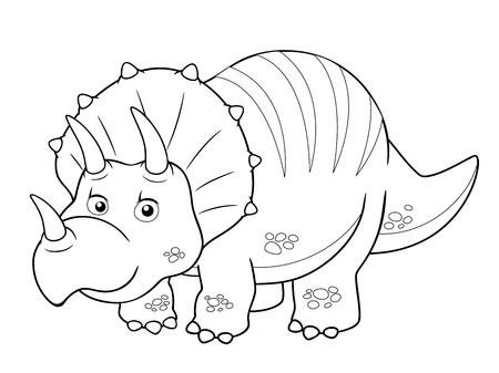 brontosaurus: illustration of Cartoon dinosaur outline