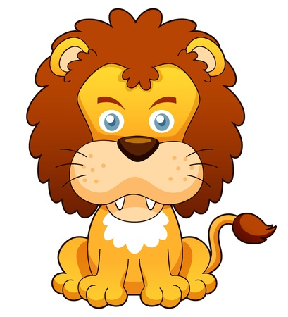 illustration of Cartoon lion vector Vector