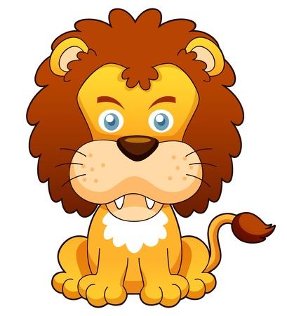 panthera: illustrazione di vettore del fumetto leone Vettoriali