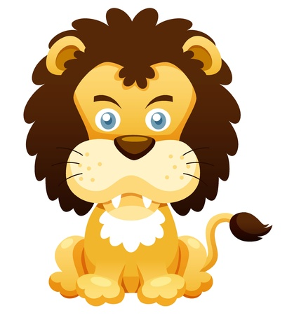 panthera: illustration of Cartoon lion vector