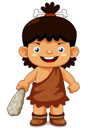 toons: illustration of Cartoon cave boy