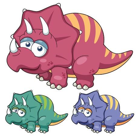 petrifying: illustration of Cartoon dinosaur  Illustration