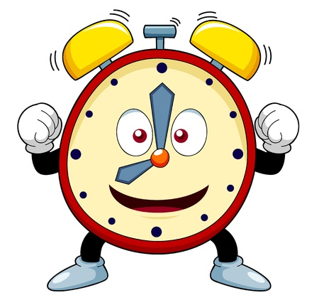 ringing: illustration of Cartoon alarm clock
