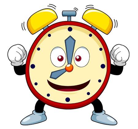 despertador: ilustraci�n de reloj de alarma de la historieta Vectores