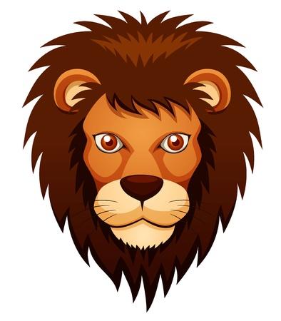 animal nose: ilustraci�n de la cara del le�n