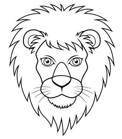 illustration of Lion face outline Stock Vector - 16715417