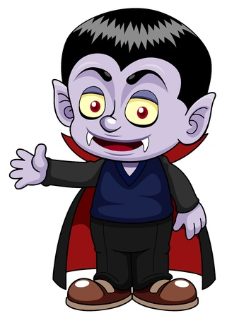cartoon vampire: illustration of Cartoon dracula
